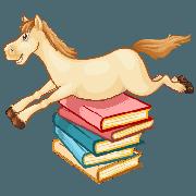 Kleines Erkennungszeichen vom Pferdewörterbuch